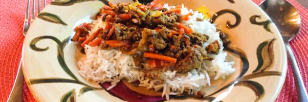 Havij Polow (Carrot Rice Pilaf)